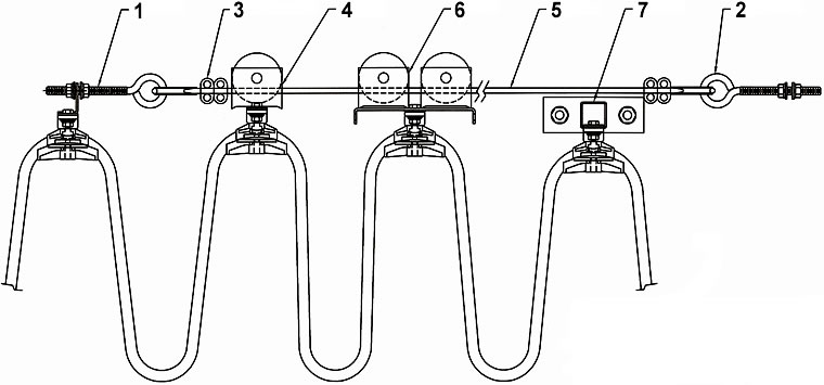 Round Cable And Air Hose Festoon System Wire Supported