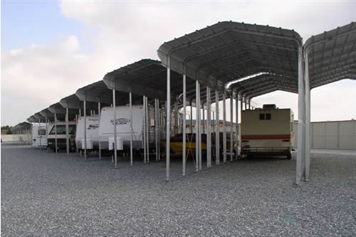 Metal Canopy Shelter : Carports steel shelters storage boat vehicle