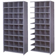 pre-engineered 36 inch wide bin shelving