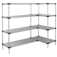 solid shelf units galvanized