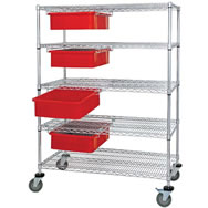bin cart with dividable grids