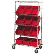 chrome slanted wire shelving