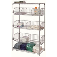 chrome wire basket units