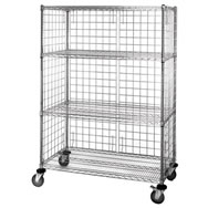 enclosure carts wire shelving