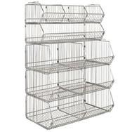 modular wire stacking baskets