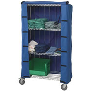 wire shelving covers & carts