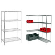 54 inch wire shelving starter & add on units
