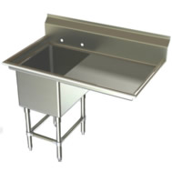 one compartment w/right drainboard sinks