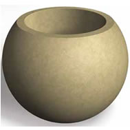 spherical concrete planters