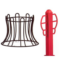 steel bike racks and bollards