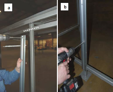 Step 4: Attach double-sided bracket to the vertical support.