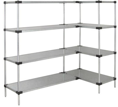 solid shelf unit galvanized steel ...