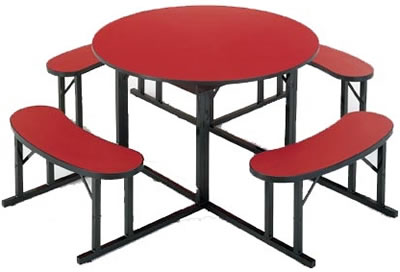Round Cafeteria Tables