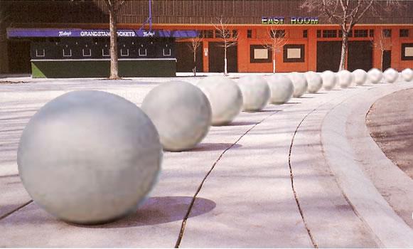 Sphere Bollard Bollards Concrete Bollards