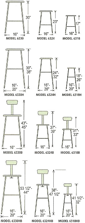 Square Hardboard Stools Hardboard Seat Chairs Ergonomic
