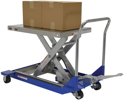 Stainless Steel DC Powered Scissor Carts, Stainless Steel