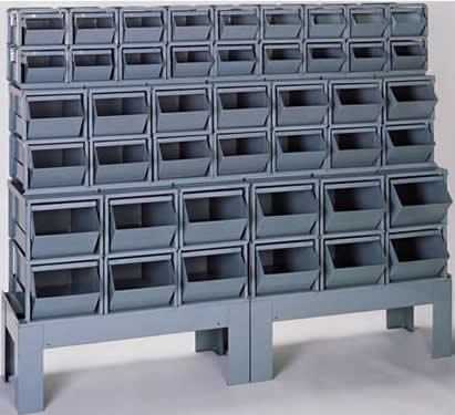 Bins Corrugated Steel Containers Metal Storage Stack Stackable Stackbins