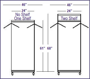 coat and hat rack systems