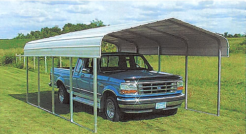 Metal Vehicle Shelters : Carports steel shelters storage boat vehicle
