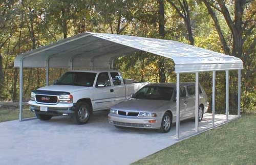 Steel Boat Shelter : Carports steel shelters storage boat vehicle
