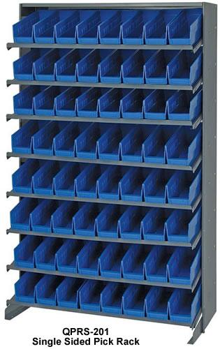 store-more shelf bin sloped shelving systems