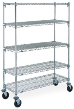 Caster Carts Utility Wire Shelving Carts