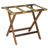 deluxe oak luggage racks
