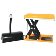 powered scissors lift table