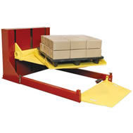 roll-on level loader with turntable