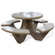 concrete round table