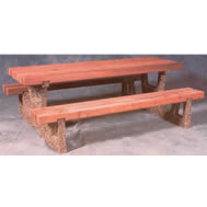 wood and concrete tables