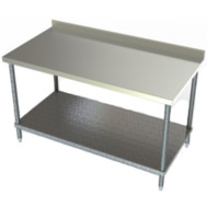 ss galvanized undershelf table