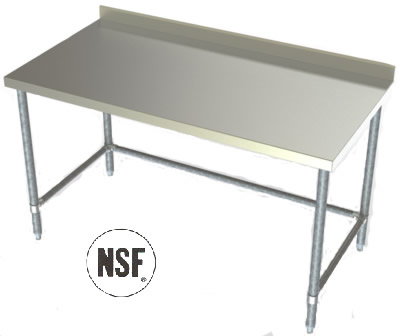 Benches Work Tables Stainless Steel Benches Stainless Steel Work - Stainless steel work table with backsplash