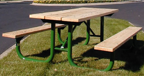 Picnic Tables Site Furnishing Steel Tables Tables - Picnic table paint colors