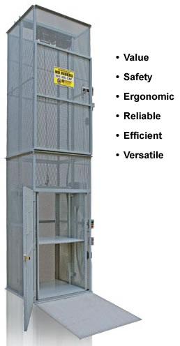 Modular Material Lifts Mezzanine Lift Custom Industrial