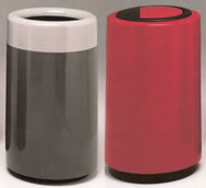 Fiberglass Top Entry Round Trash Receptacles
