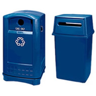 recycling station containers and tops