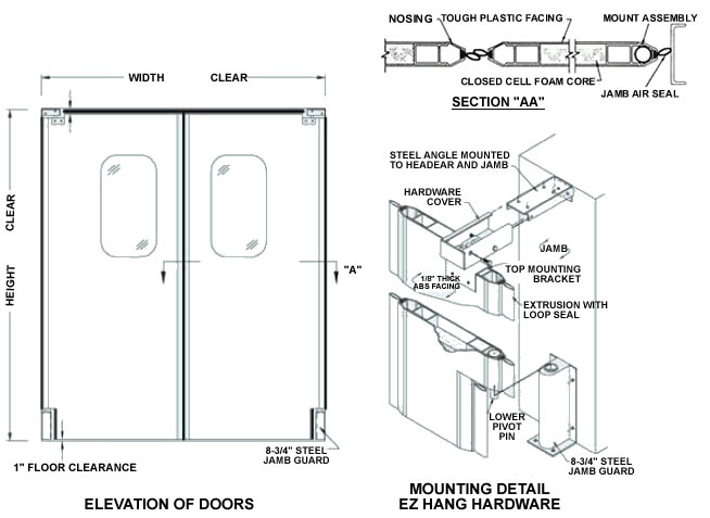 View Specifications Details Of Glass: Ultra-Lite, Impact Doors, Impact Traffic Door, Rubbair Doors