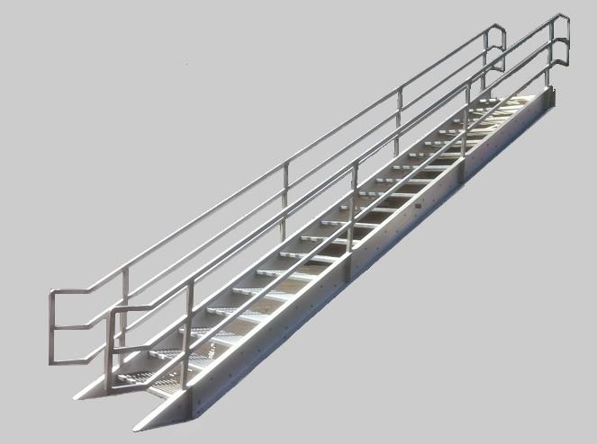 welded aluminum bocaosha prefab stairways - Aluminum Stairs