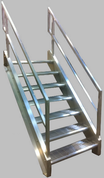 Welded aluminum prefab stairways galvanized stairs for Prefabricated staircases