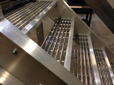 Nice Welded Aluminum Prefab Stairways, Galvanized Stairs, Industrial Stairs,  Metal Stairs, Open Tread Stair, OSHA Prefab Stairways