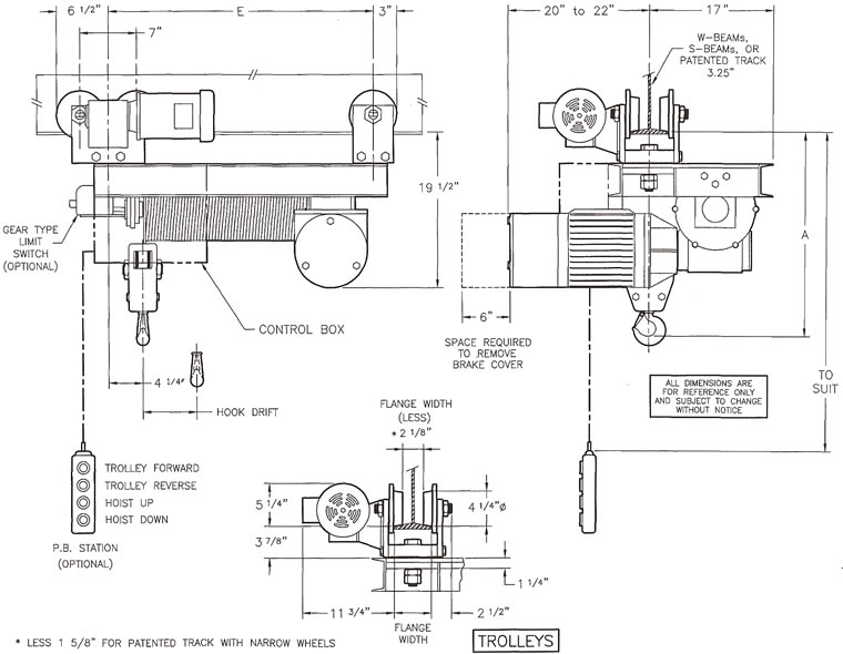 Wire rope hoist single hook monorail hoists 1 3 tons on brake control wiring diagram