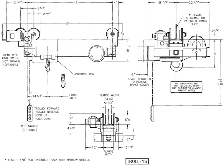 drawing saturn wire rope hoists, ultra low headroom hoists, electric hoists lodestar hoist pendant wiring diagram at honlapkeszites.co
