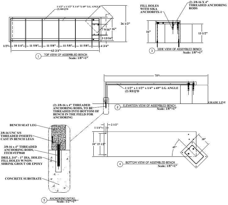 Steel chairs floating concrete bench lounge chairs for Floating bench plans