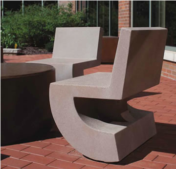 Steel Chairs Concrete Cantilever Chair Lounge Chairs