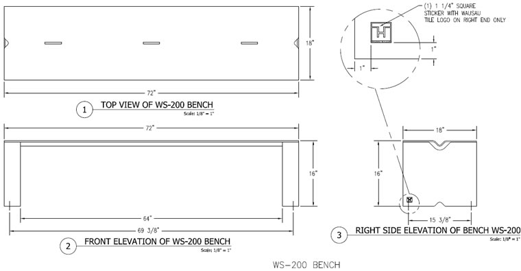 Steel Bench, Steel Bench with Creased Seat, Two-Person Bench, Benches