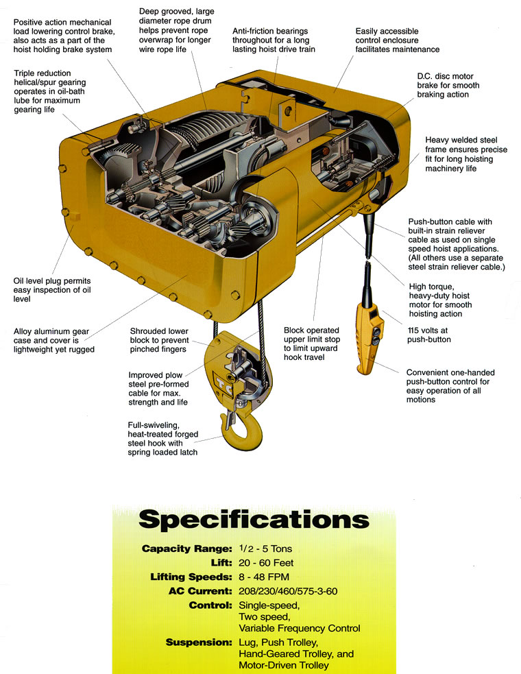 Electric Wire Rope Hoists  Wire Rope Hoist  Hoists